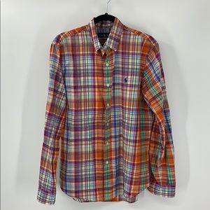 Men's Ralph Lauren Slim Fit Vibrant Plaid Shirt